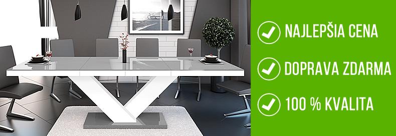Luxusné jedálenské stoly, Moderné jedálenské stoly za najlepšiu cenu | Stolikovo.sk